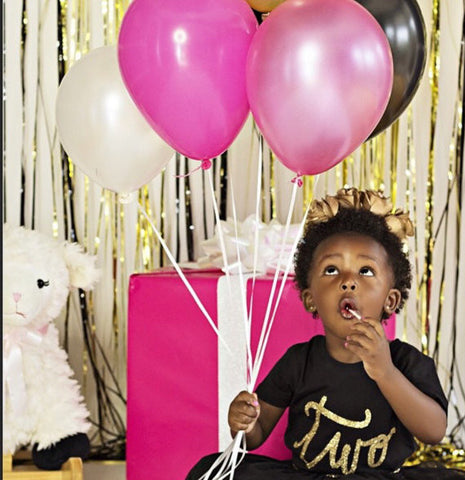 Number TWO gold sparkle toddler birthday shirt
