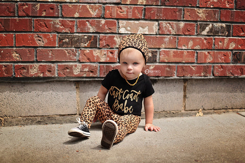 East Coast Gold Sparkle Baby bodysuit