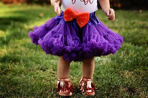 The Sparkle Babe sequin bow tutu petti skirt in PURPLE