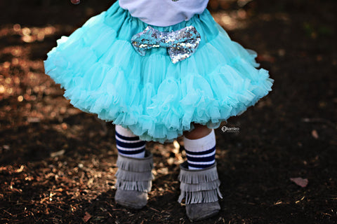 The Sparkle Babe tutu petti skirt in AQUA