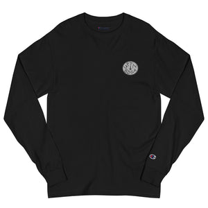 "Men's Champion Long Sleeve Patched ""UPTN BDGA"" T- Shirt"