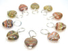 Arizona Sunrise Droplet Stitch Markers for Knitting or Crochet