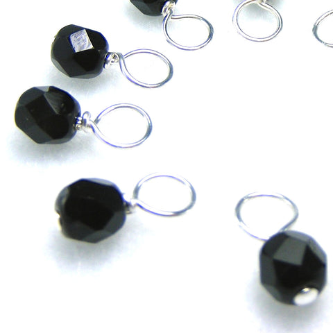 Black Currant Droplet Stitch Markers