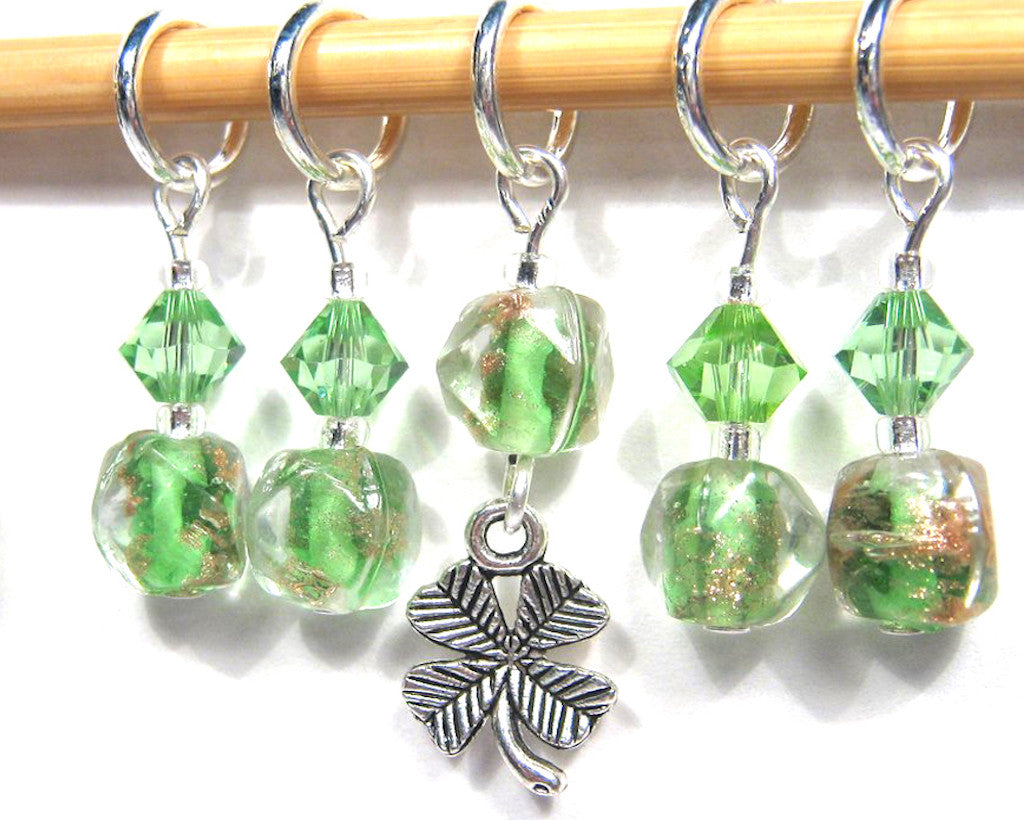 Clover Field Stitch Marker Set