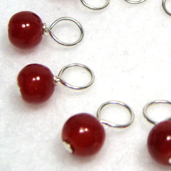 Cranberry Droplet Stitch Markers