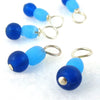 Atlantic Ocean Droplet Stitch Markers for Knitting or Crochet