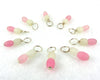 Baby Girl Droplet Stitch Markers for Knitting or Crochet