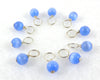 Periwinkle Droplet Stitch Markers for Knitting or Crochet