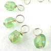 Green Cobble Droplet Stitch Markers for Knitting or Crochet