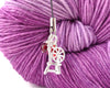 Spinning Wheel Charm with Swarovski Crystal