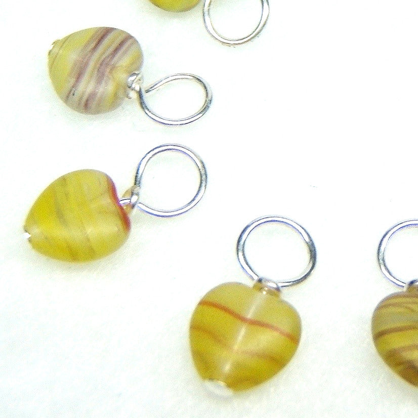 Nevada Hearts Droplet Stitch Markers for Knitting or Crochet