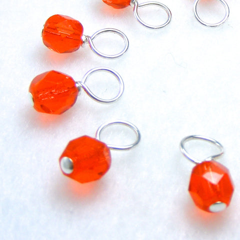 Clementine Droplet Stitch Markers