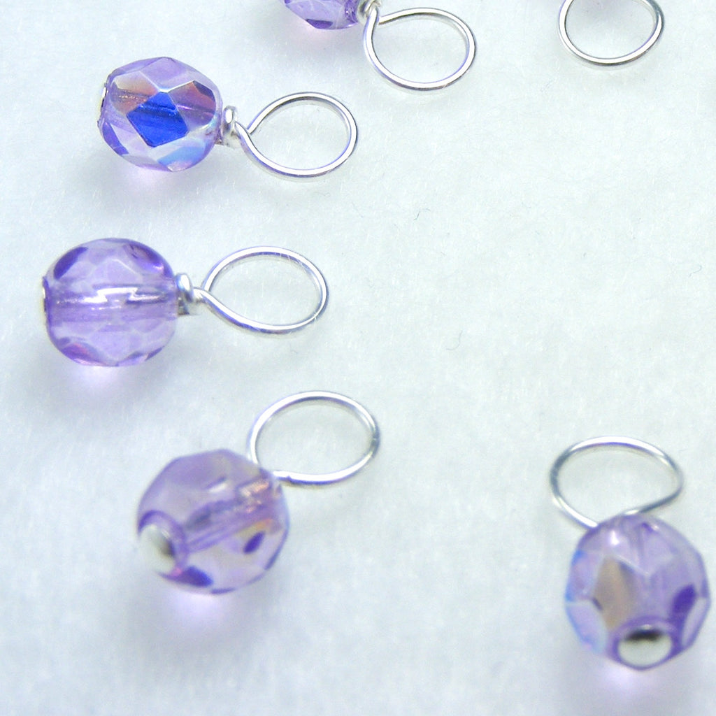Lavender Water Droplet Stitch Markers
