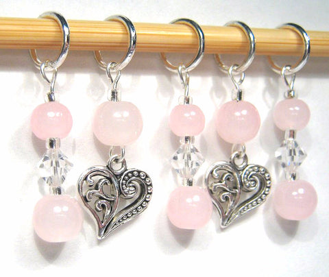 Floating Heart Stitch Marker Set