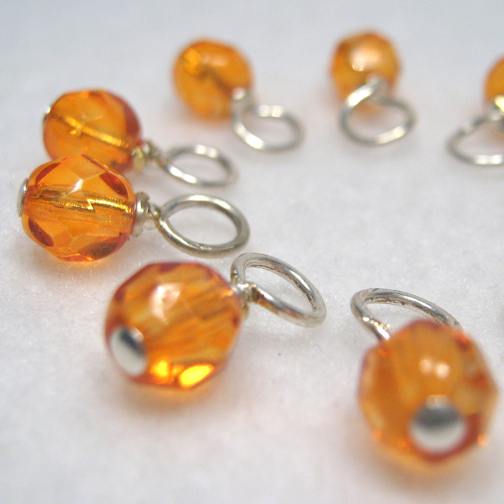 Orange Popsicle Droplet Stitch Markers
