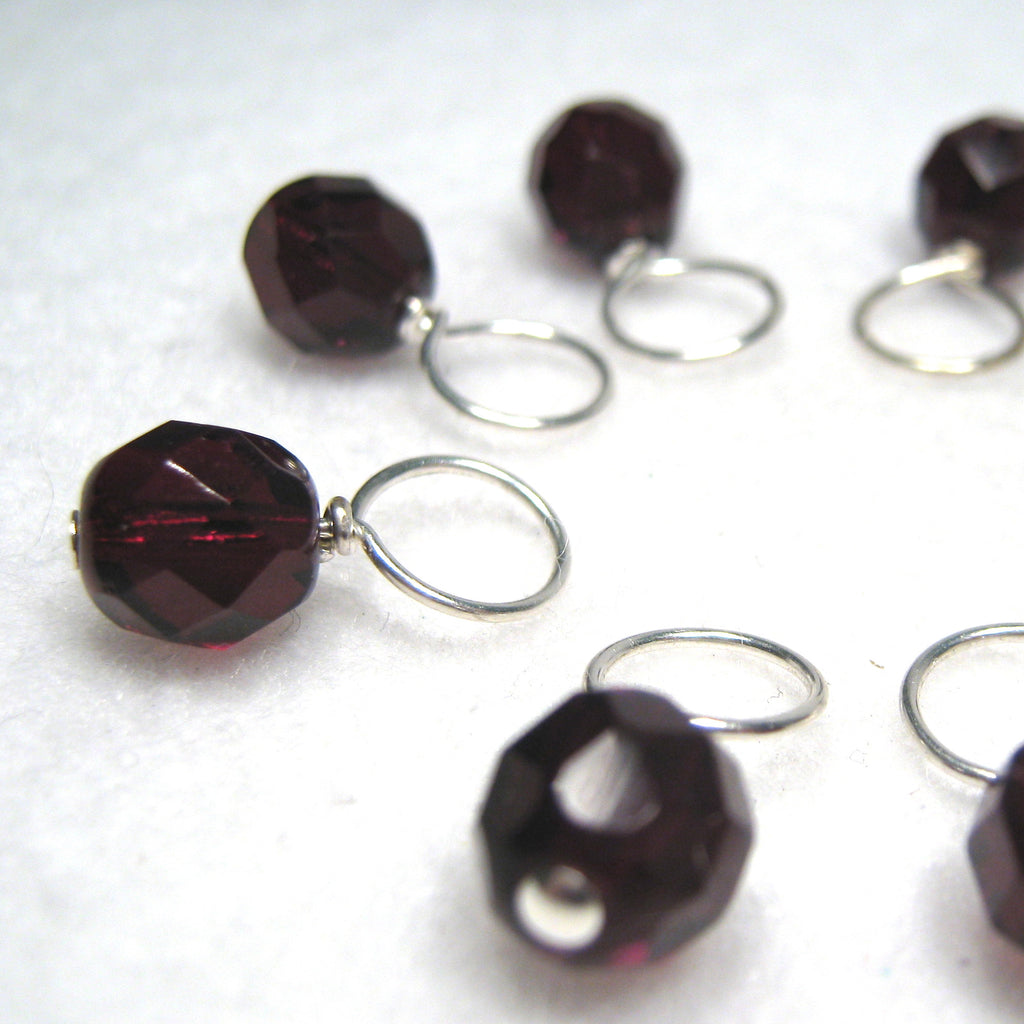 Ruby Rocks Stitch Marker Drops