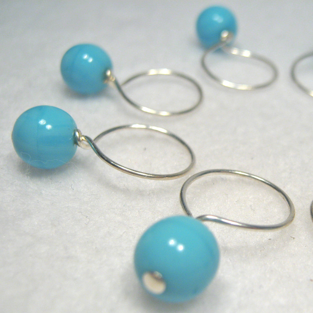 Sky Blue Stitch Marker Drops