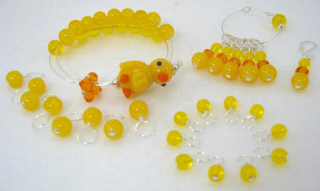 Complete Knitting Set - Rubber Ducky