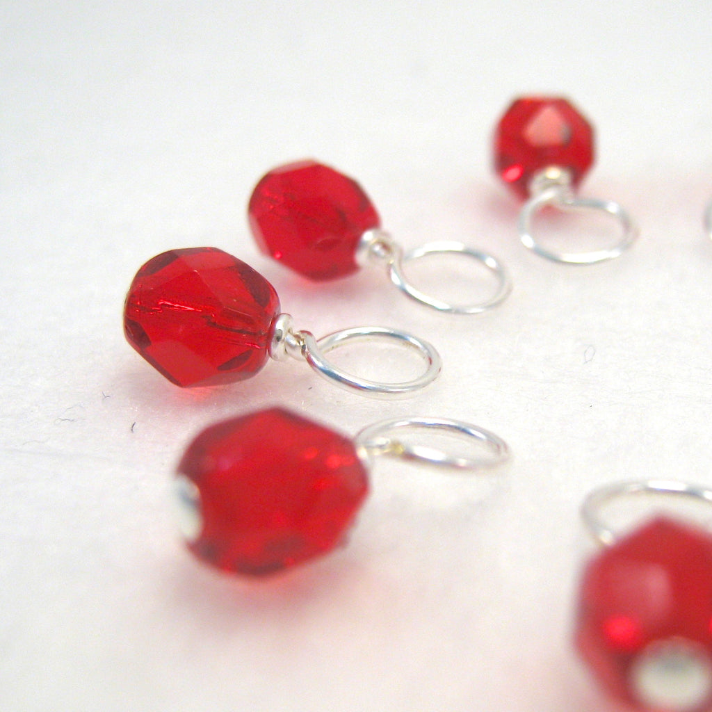 Ruby Slipper Droplet Stitch Markers