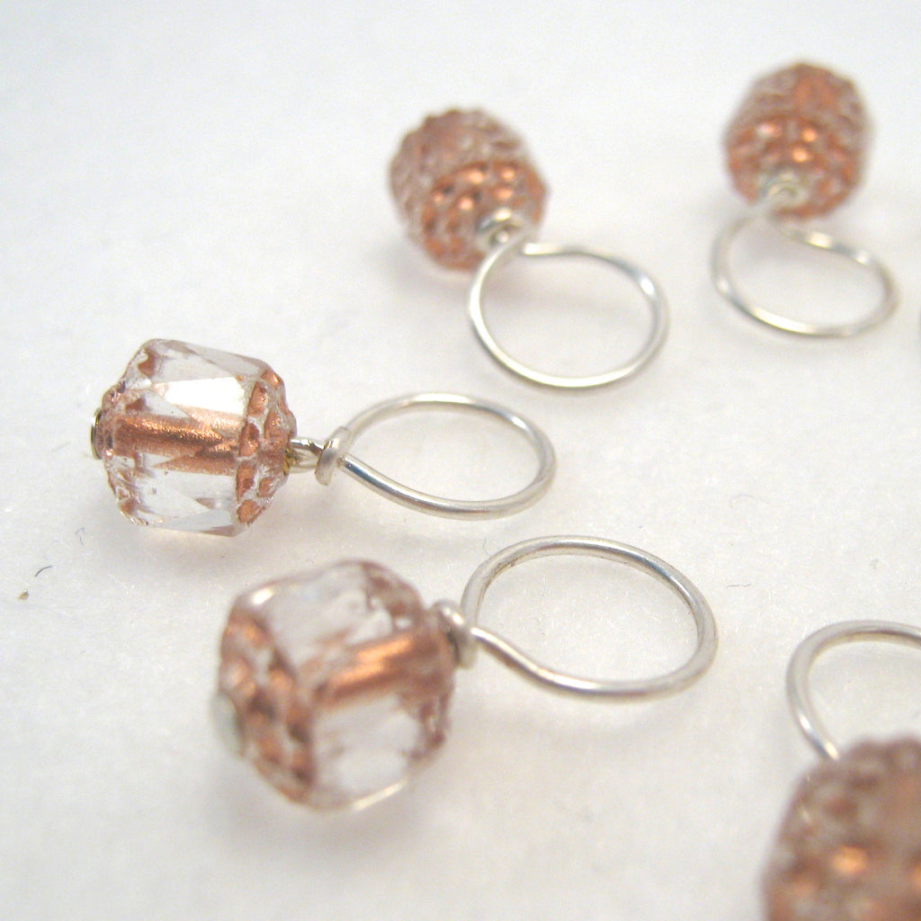 Pale Pink Cathedral Stitch Marker Drops