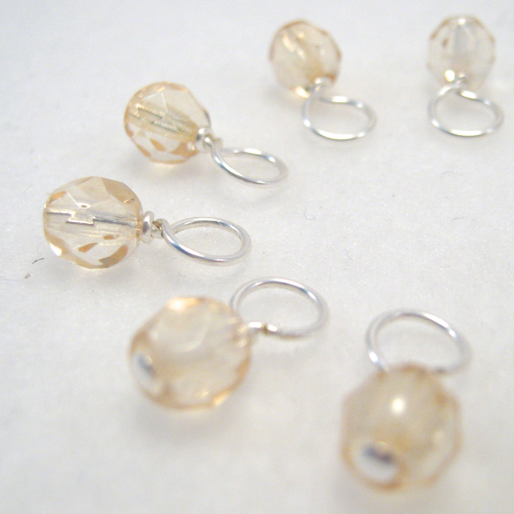 Champagne Droplet Stitch Markers