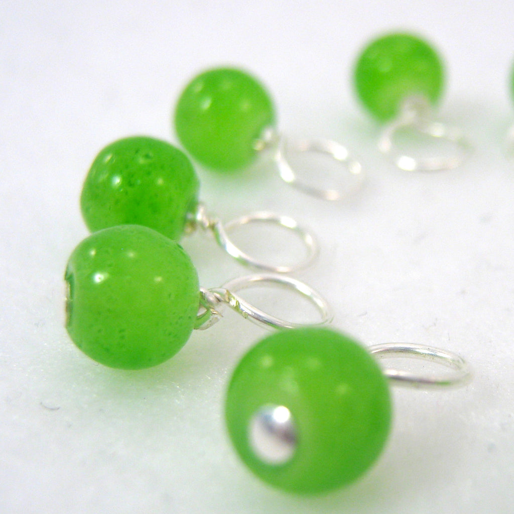 Fresh Mown Grass Droplet Stitch Markers