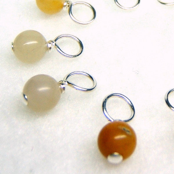 Golden Jade Droplet Stitch Markers