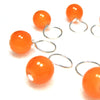 Juicy Tangerine Stitch Marker Drops