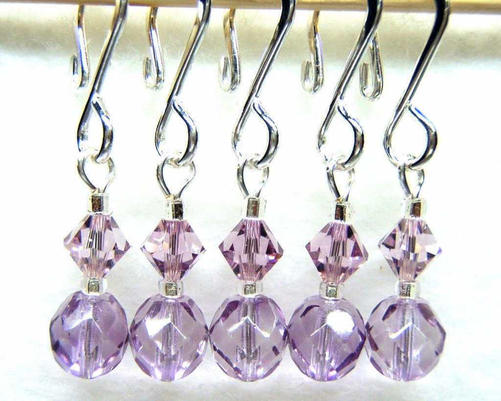Kitty's Lilac Stitch Marker Set