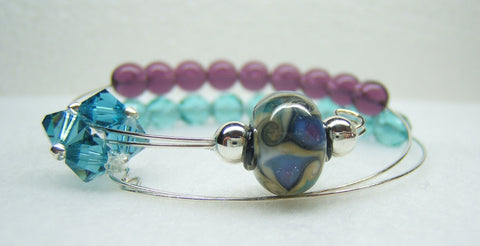 Atlantic Blues Row Counter Bracelet