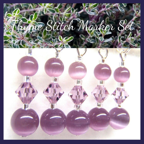 Thyme Stitch Marker Set - Customizable for Knitting or Crochet