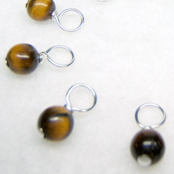 Tiger Eye Droplet Stitch Markers