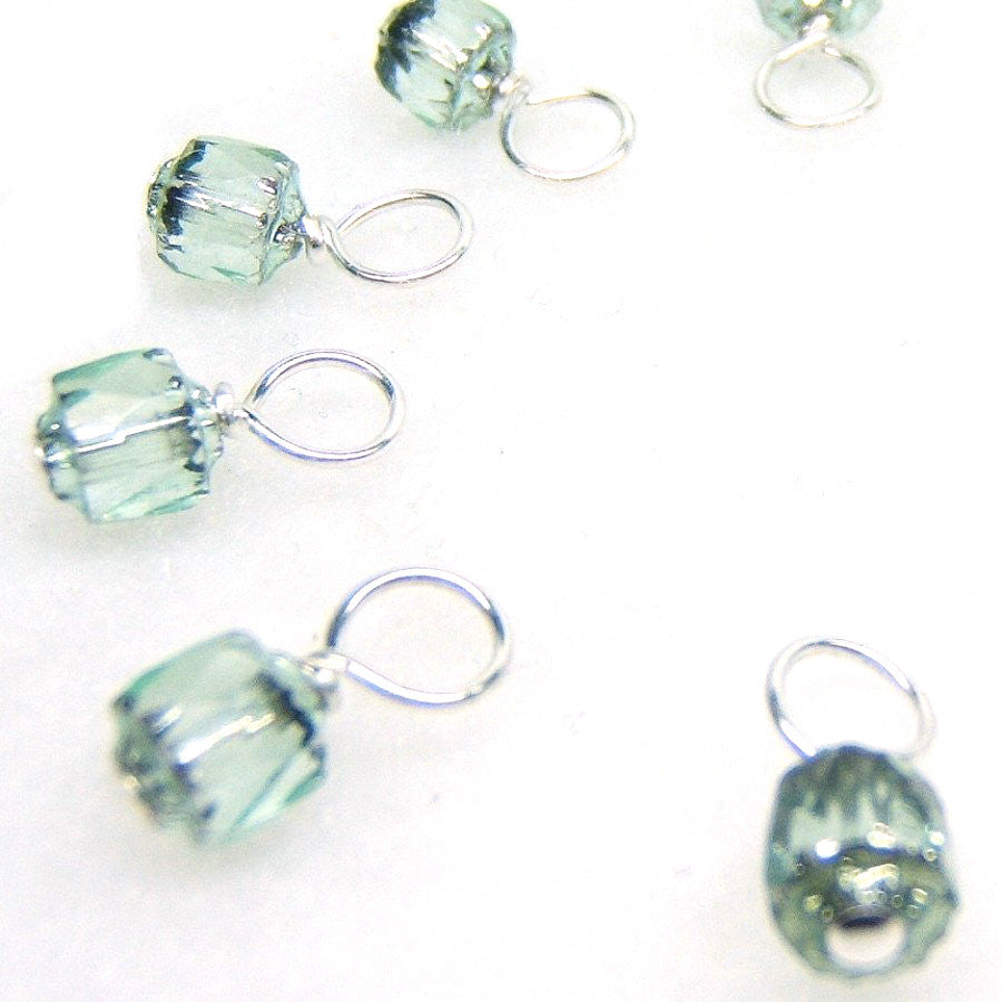 Wintermint Droplet Stitch Markers for Knitting or Crochet
