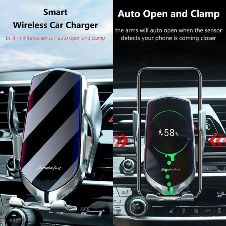 Automatic Clamping Car Wireless Charger