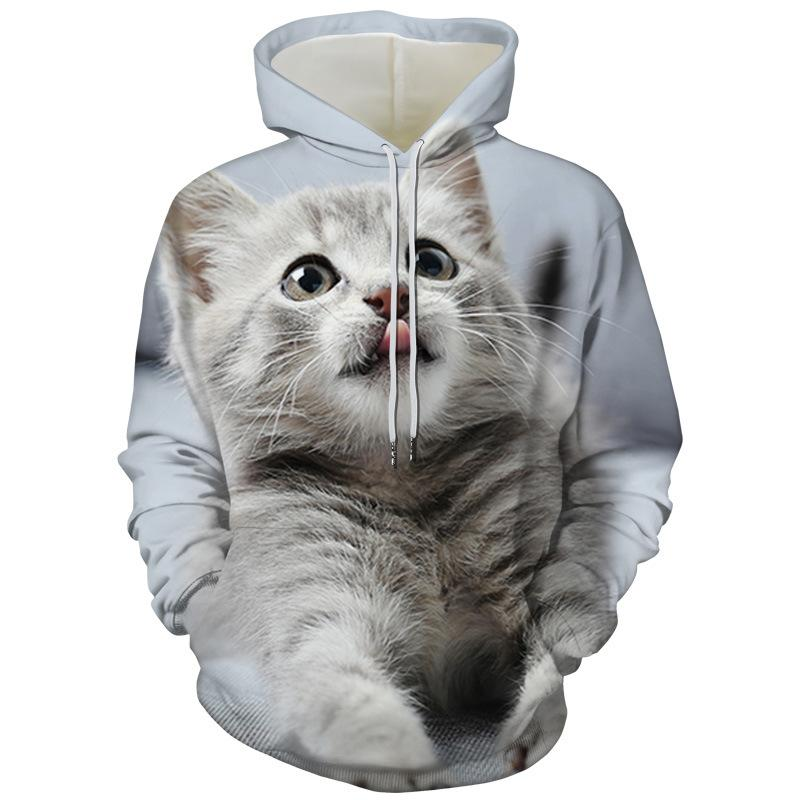 Hoodies Unisex 3D Print Cat American Shorthair Cute