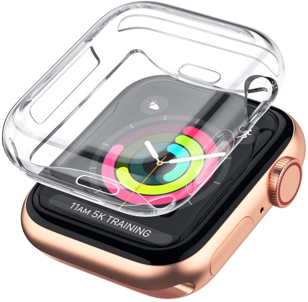 Case for Apple Watch Series Screen Protect for 40mm or 44mm -  Soft TPU All-Around Clear Protective Cover for iWatch