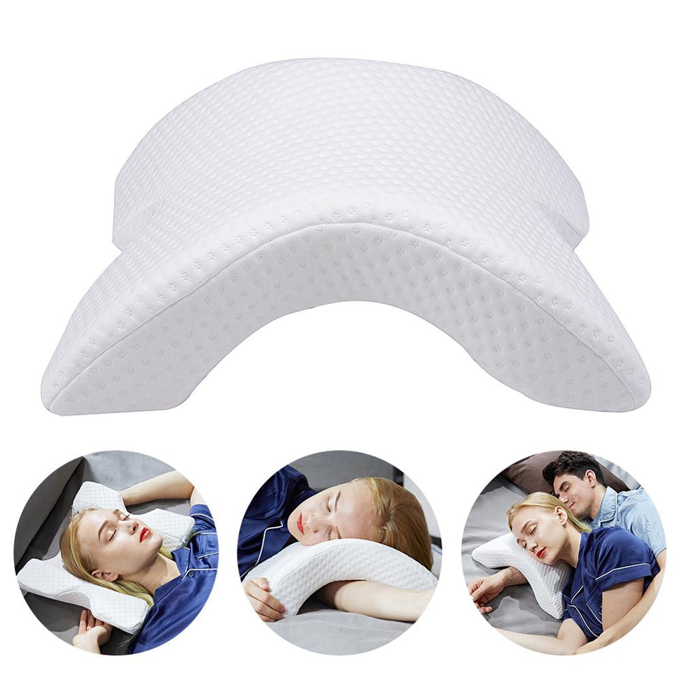 Arch U-Shaped Curved Memory Foam Arm Rest Hand Pillow for Couple Side Sleepers