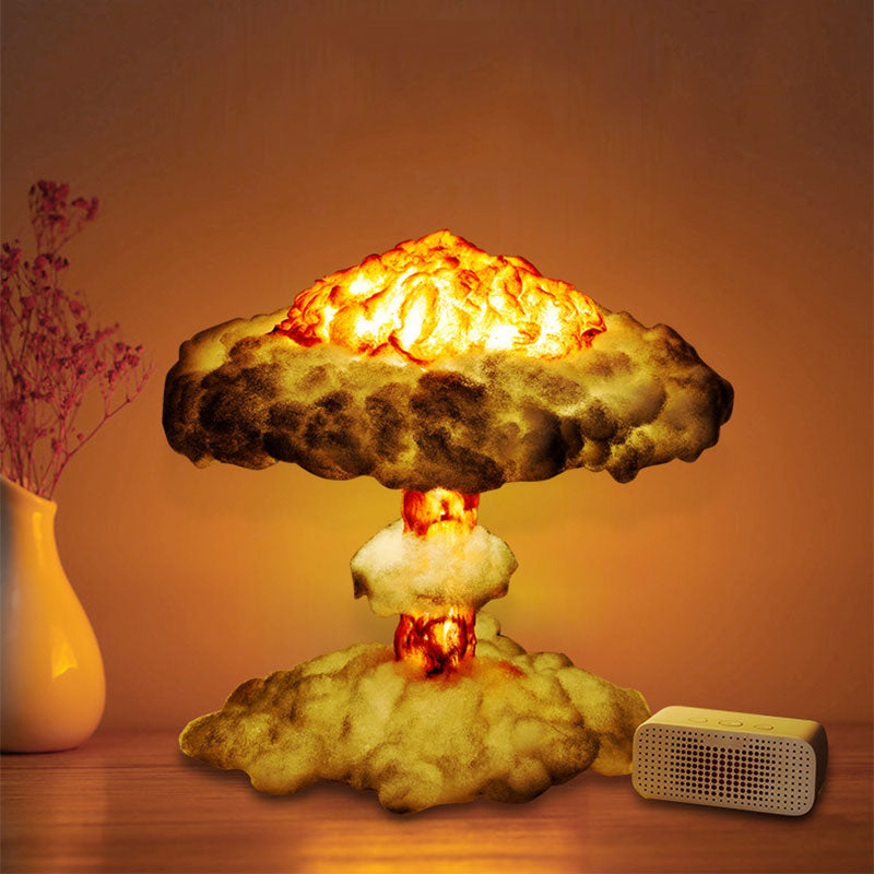 3D Mushroom Cloud Led Night Light Lamp