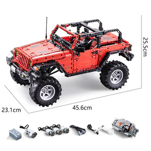 1941PCS Off-Road Truck Remote Control SUV Building Blocks with motors (With motors)