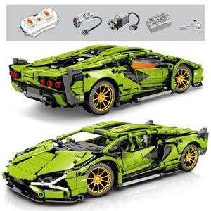 1254Pcs Technic Super Racing Sports Vehicle Remote Control Building Blocks City Speed Racer RC/non-RC Bricks Children Toys Gifts