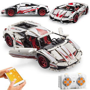 1696pcs Technic City APP RC LP610 Remote Control Car Racing