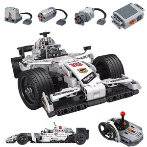 729pcs MOC 2.4GHZ Remote Control Racing Car