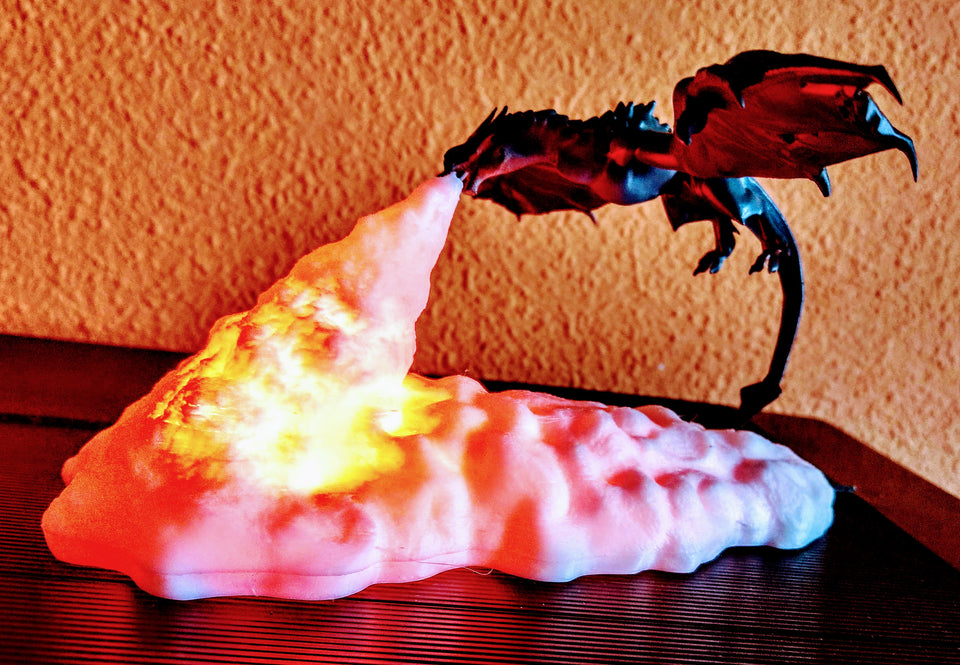 2020 Newest 3D Printed LED Dragon Lamps