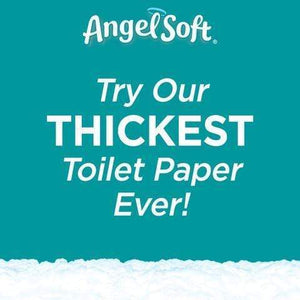 Angel Soft Cushiony Touch Toilet Paper Mega Roll