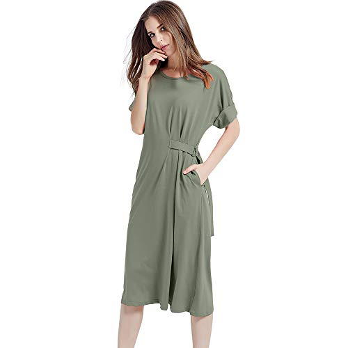 HEYFIT Women's Big and Tall Modern/Fitted, Army Green, Medium