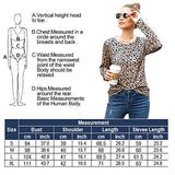 Women's Leopard Print Oversized Sweater Long Sleeve Patchwork Shirt Casual Open Front Cardigans