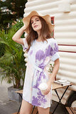 T-Shirt Dress for Women Casual Summer Dress Loose Sun with Sleeve Belt Pocket