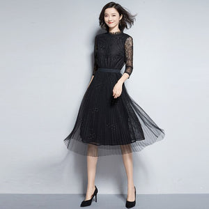Spring and summer dresses spring and summer dresses 2020 biggest shoes women's wear black party elegant dresses women's clothing