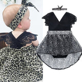 Infant Clothing Girls Baby Clothes Romper Shorts 2 Piece Suit Leopard Clothing Children's Wear