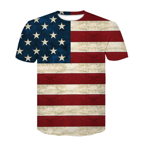 Sexy American flag men's short-sleeved T-shirt 2020 summer fashion casual funny print street wear t-shirts